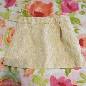 Yellow toddler skirt